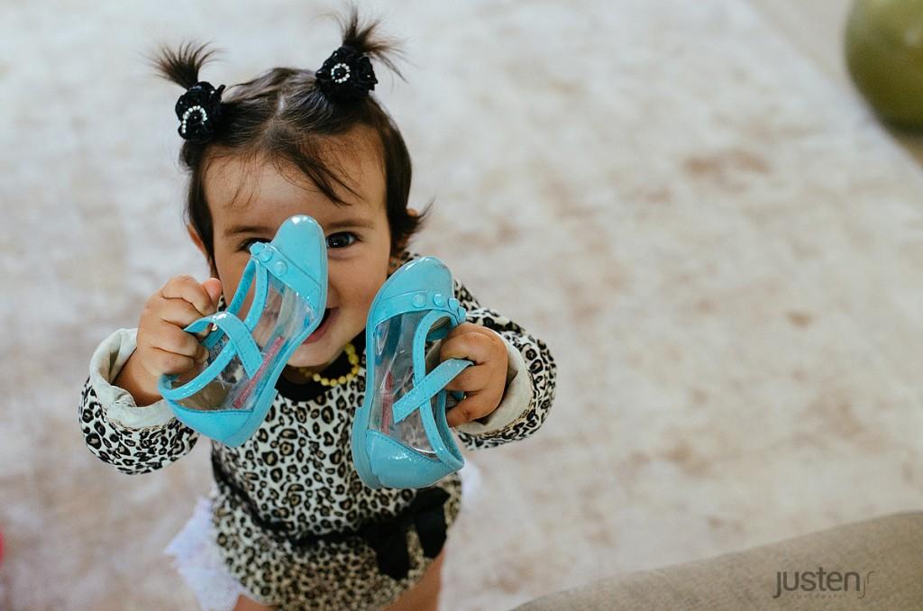 valentina sapato de bebe azul